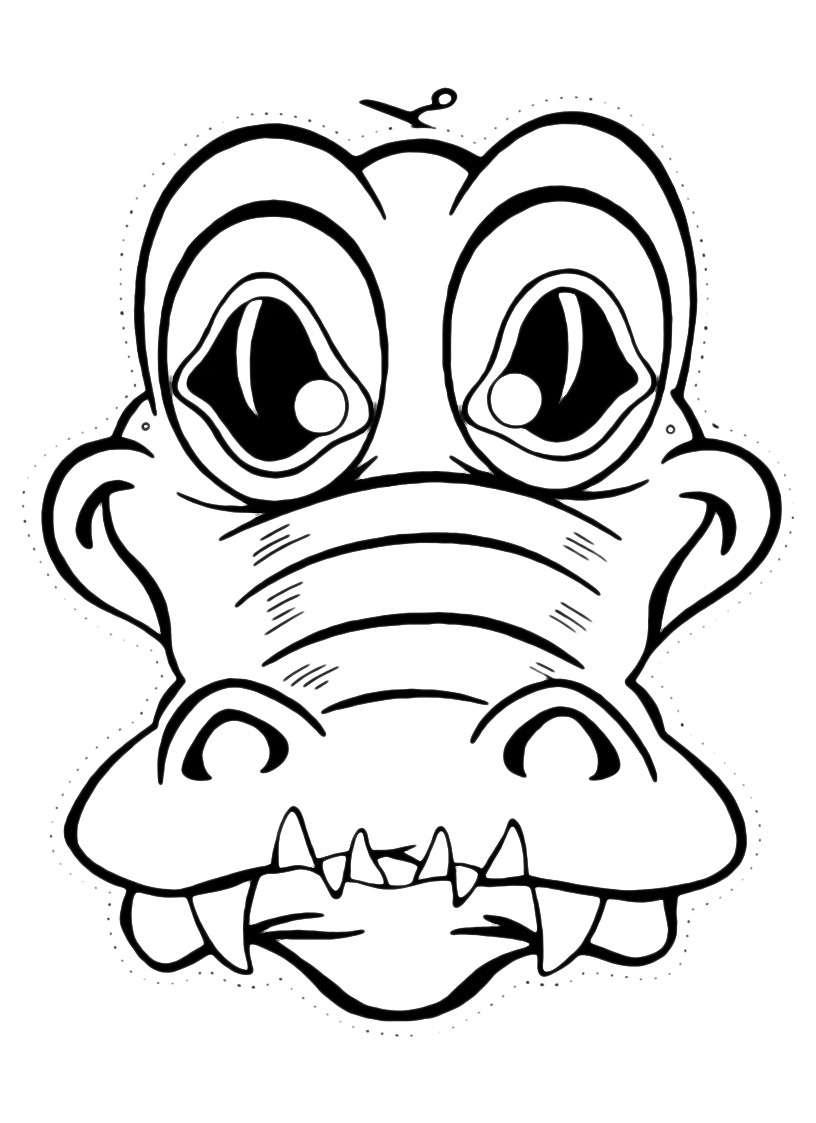 Maschera da coccodrillo