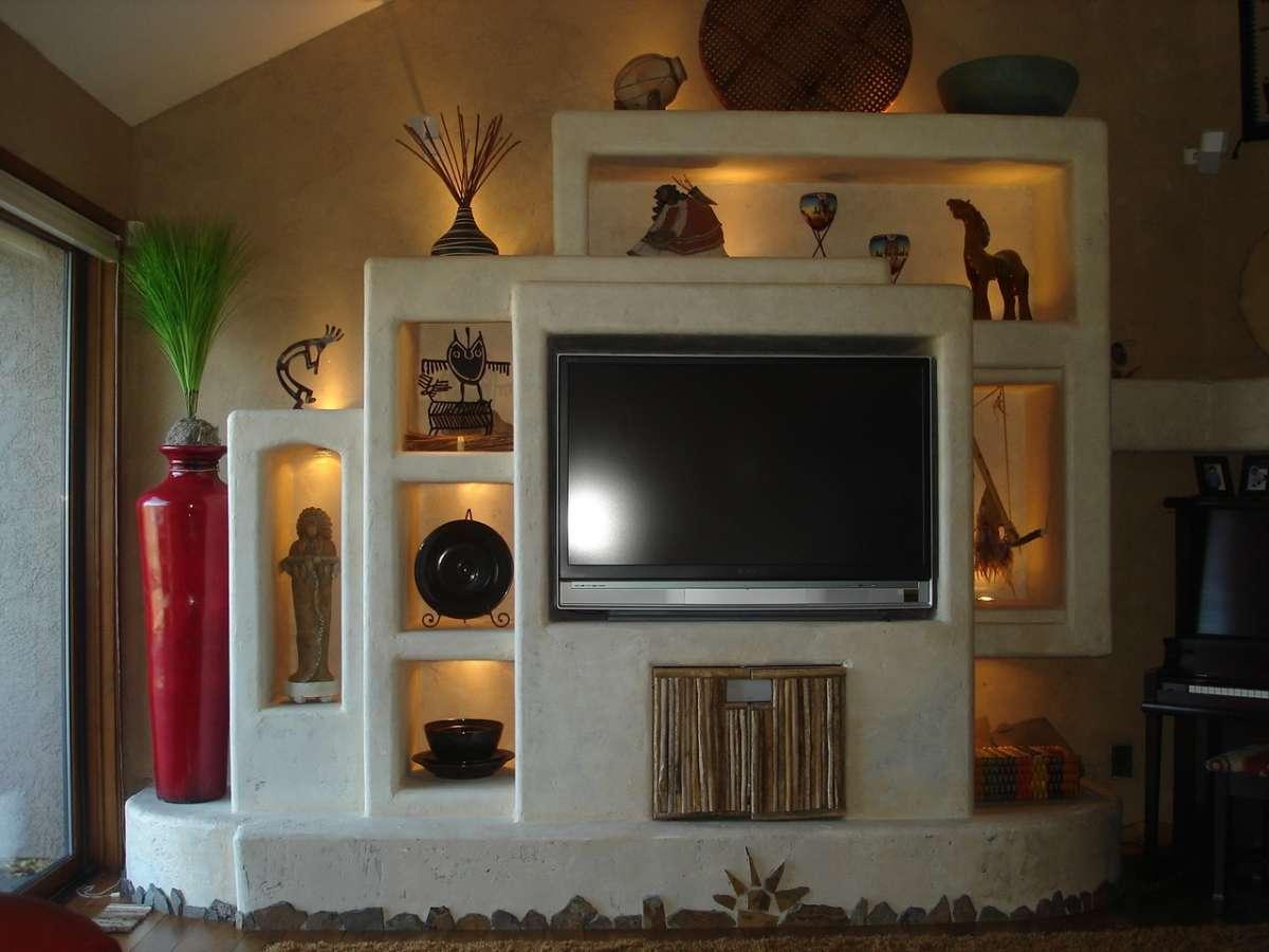 Mobile tv di pietra per il salotto