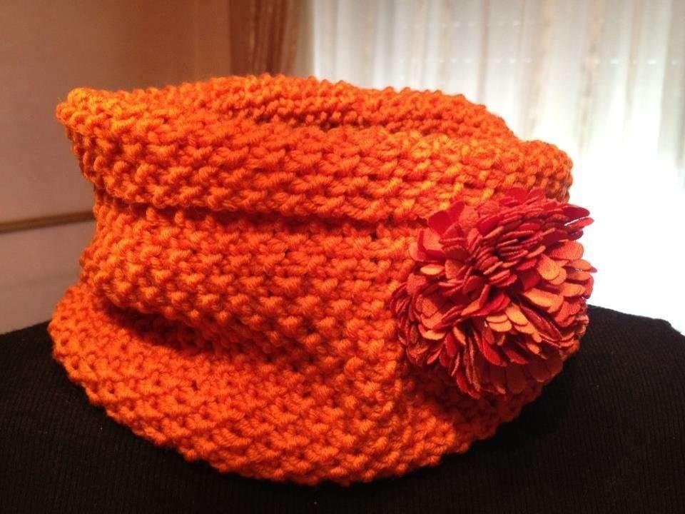 Scaldacollo a maglia arancione