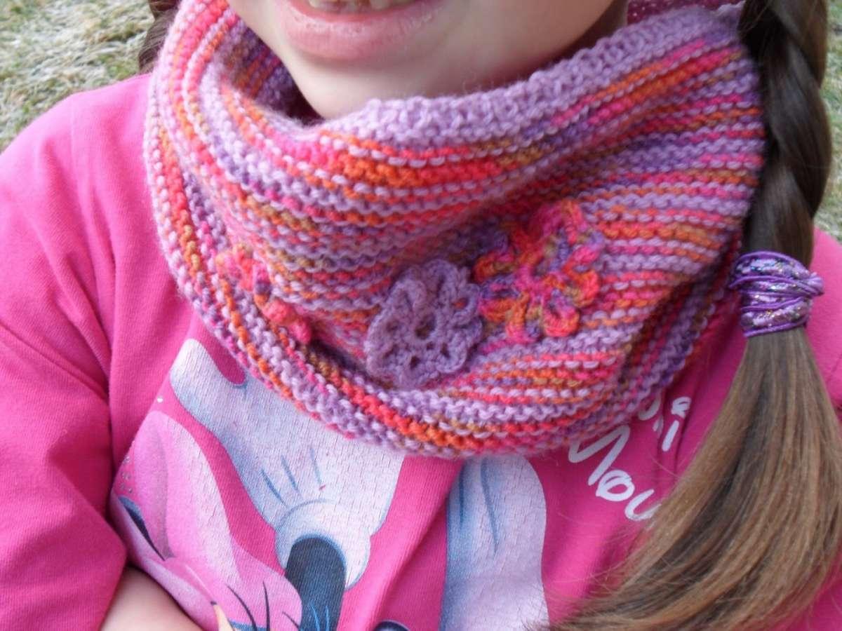 Scaldacollo a maglia per bambine