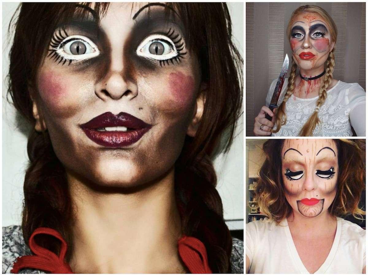 Trucco di Halloween da bambola assassina