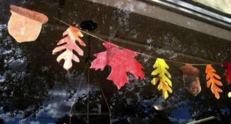 Addobbi con le foglie