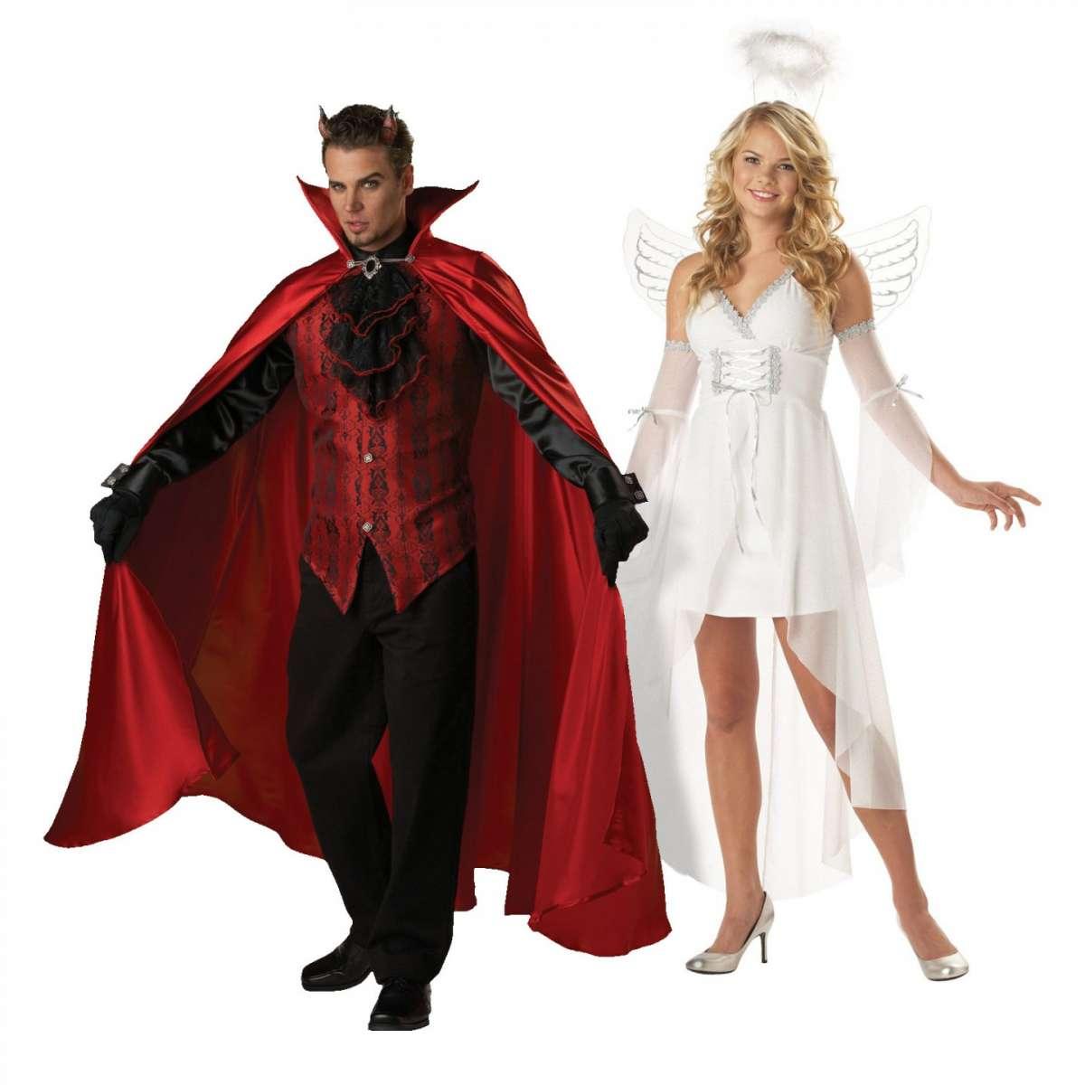 Coppia angelo e diavolo