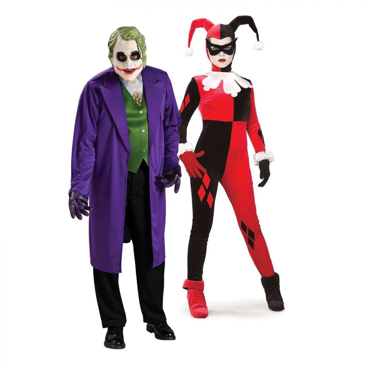 Costumi da Joker e arlecchino