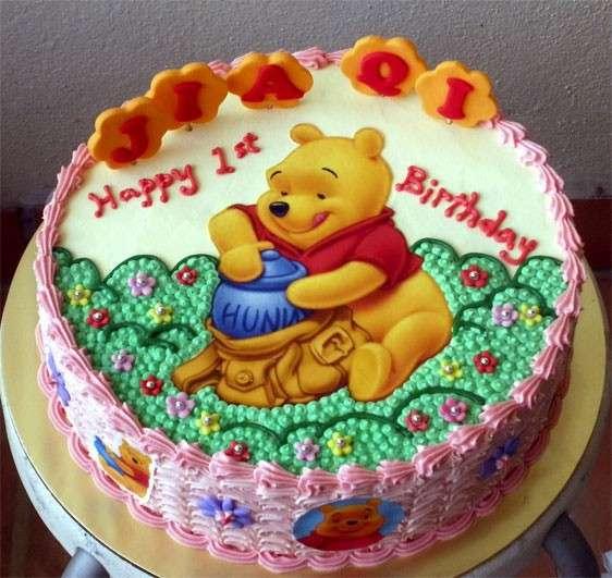 Doppia panna per la torta di Winnie The Pooh