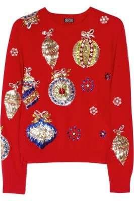 Out: maglione con ricami natalizi