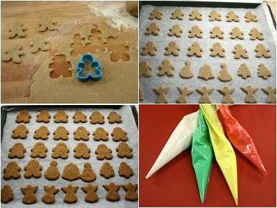 Preparazione omini di pan di zenzero