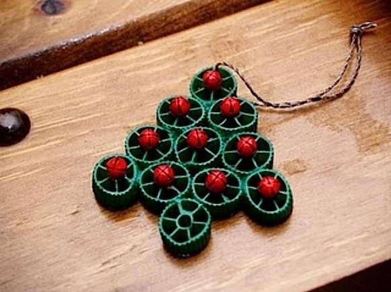 Addobbo verde e rosso con la pasta