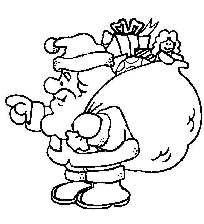 Babbo Natale carico di doni