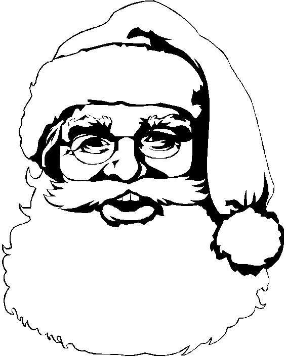 Babbo Natale in primo piano