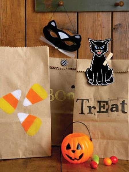 Buste per le caramelle e decorazioni per Halloween