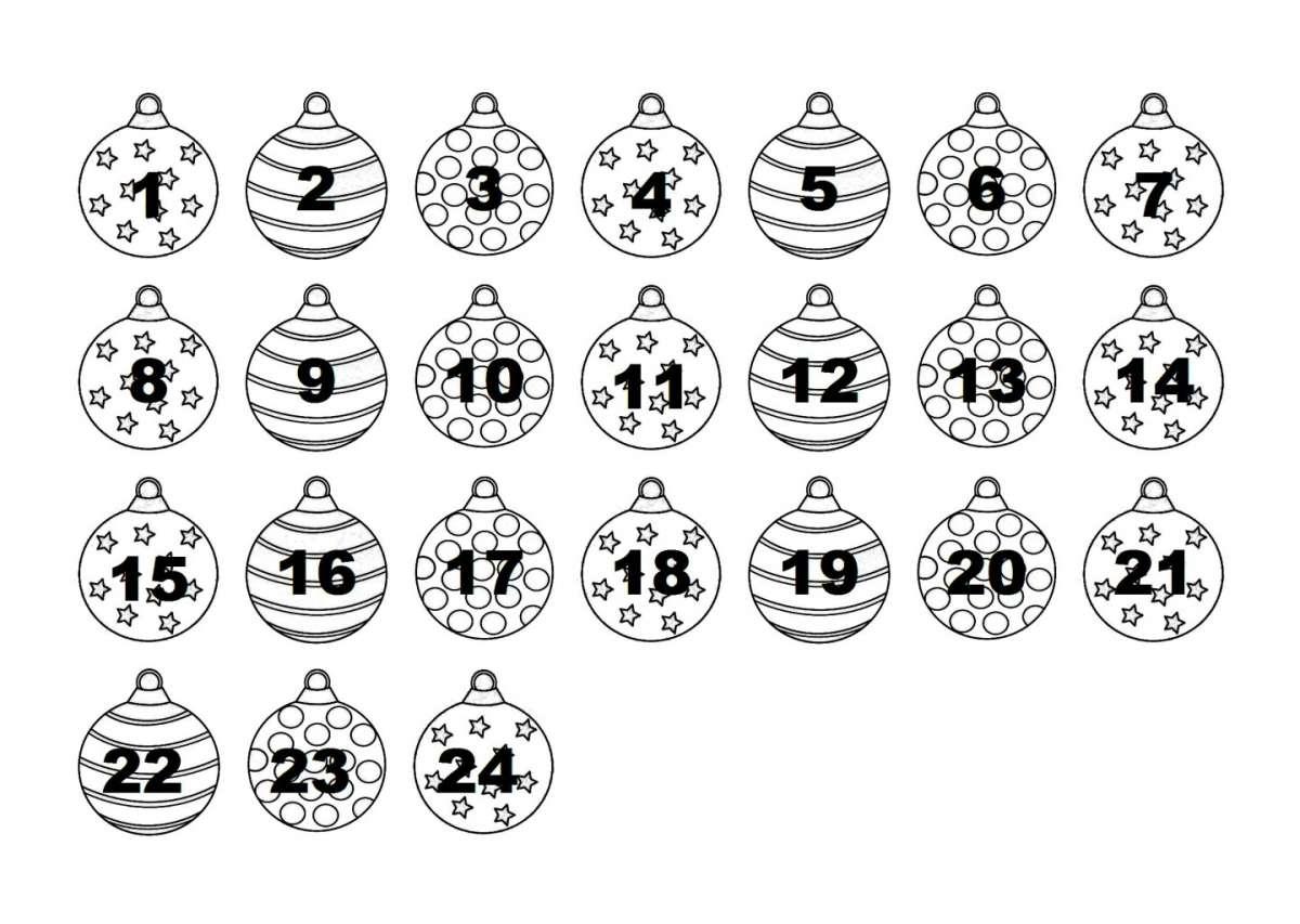 Calendario con le palline