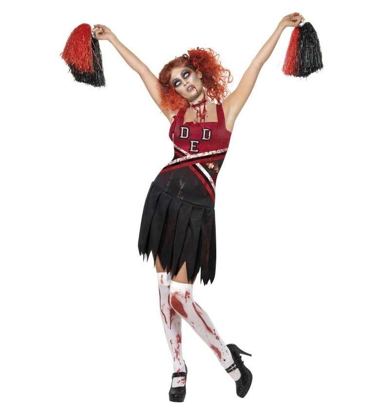 Costume da cheerleader zombie