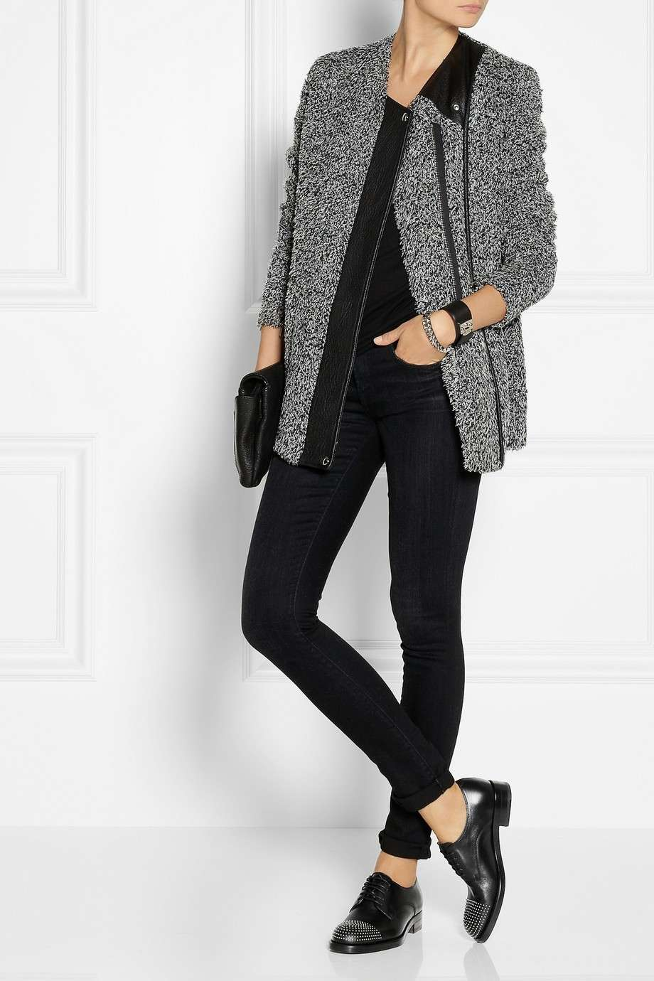 Francesine e jeans neri