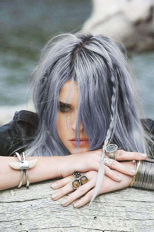Grigio blu per capelli