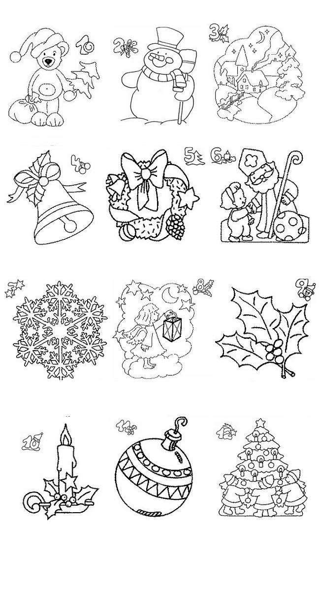 Immagini natalizie da colorare