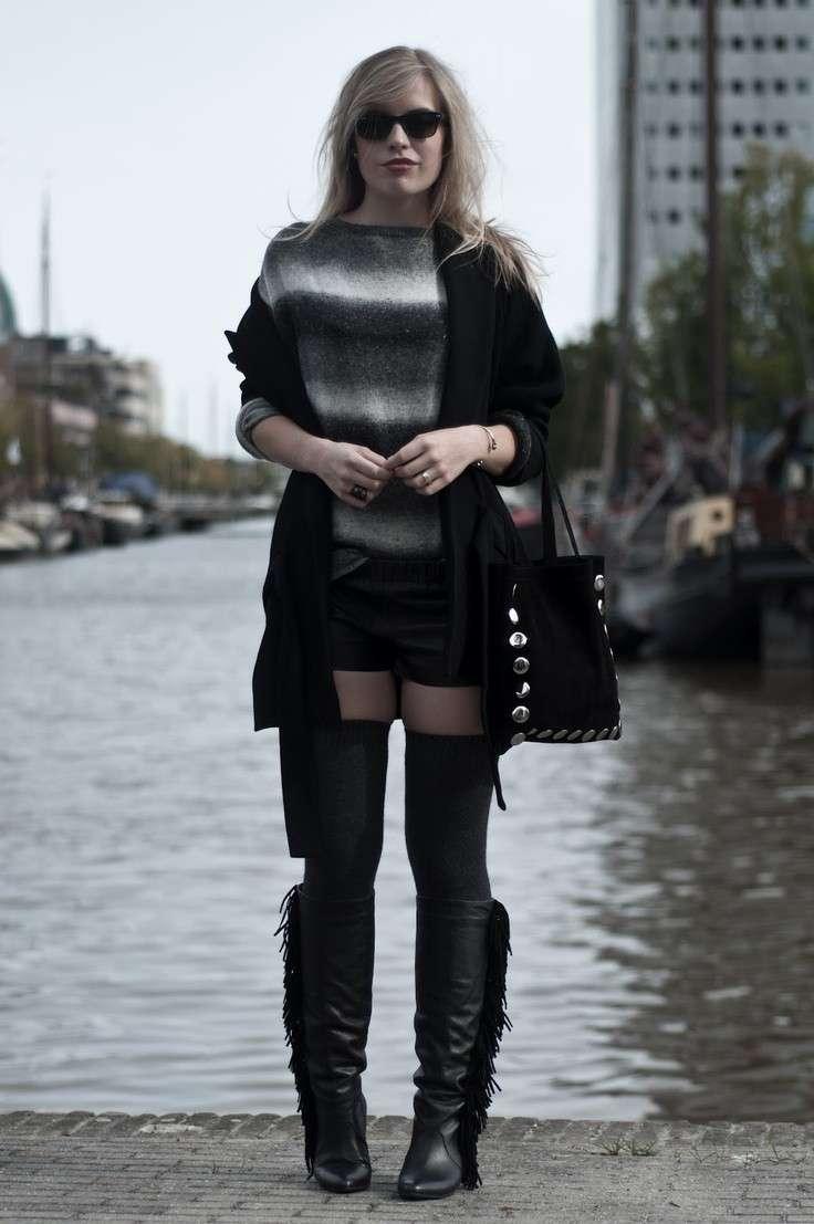 Look in nero con parigine