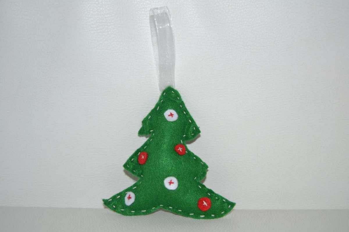 Albero di Natale da appendere in pannolenci