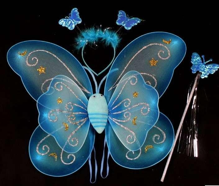 Ali da farfalla azzurre