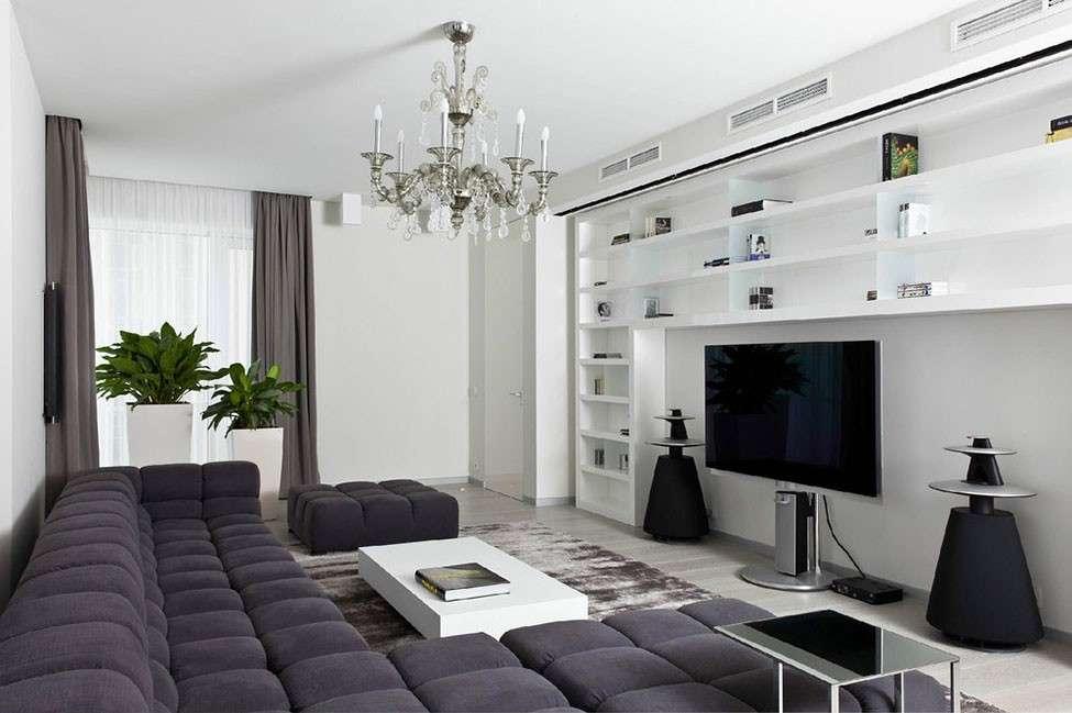 Colori freddi per un soggiorno formale