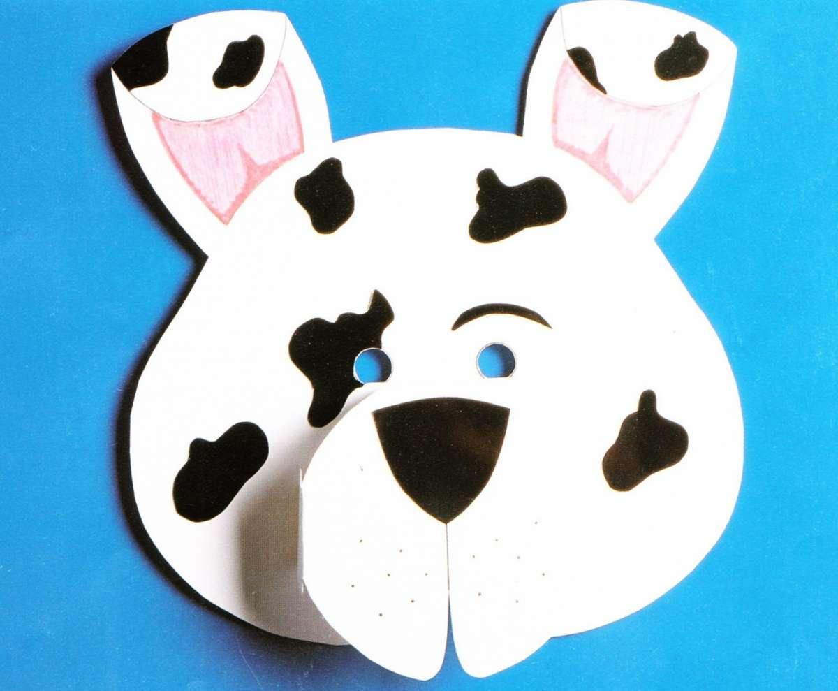 Maschera a forma di cagnolino