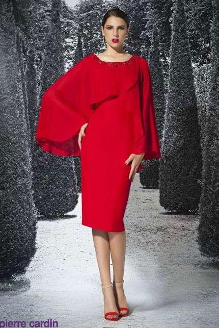 Rosso con stola Pierre Cardin