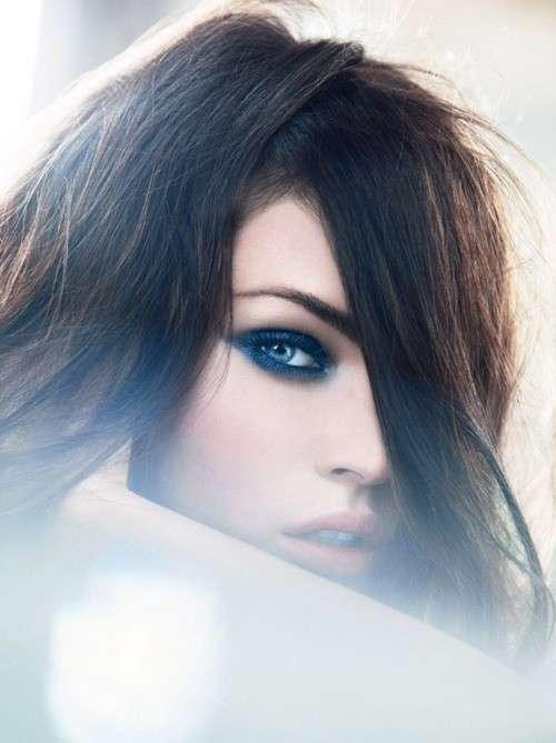 Smokey eye blu per occhi azzurri