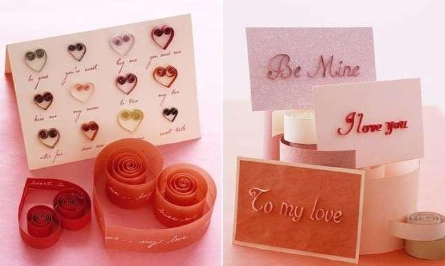 Biglietti romantici fai da te