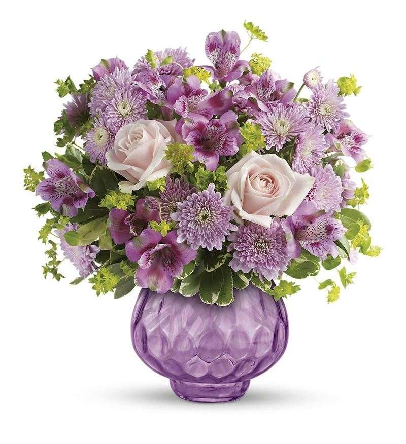 Bouquet lilla per la laurea