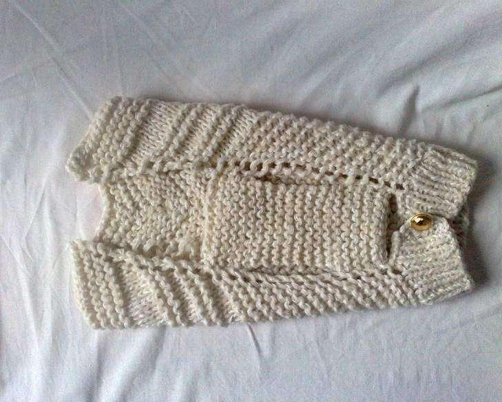 Cappottino a maglia beige
