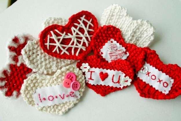 Cuoricini a maglia