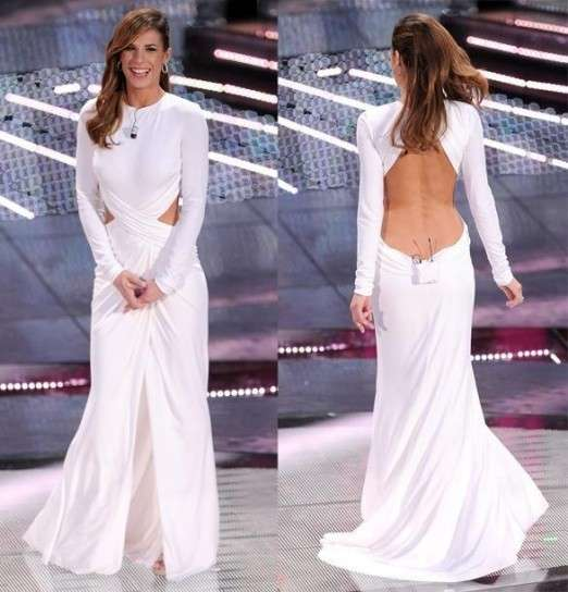 Elisabetta Canalis in abito bianco