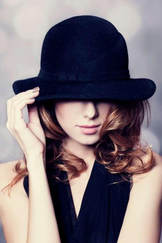 Fedora hat hairstyle