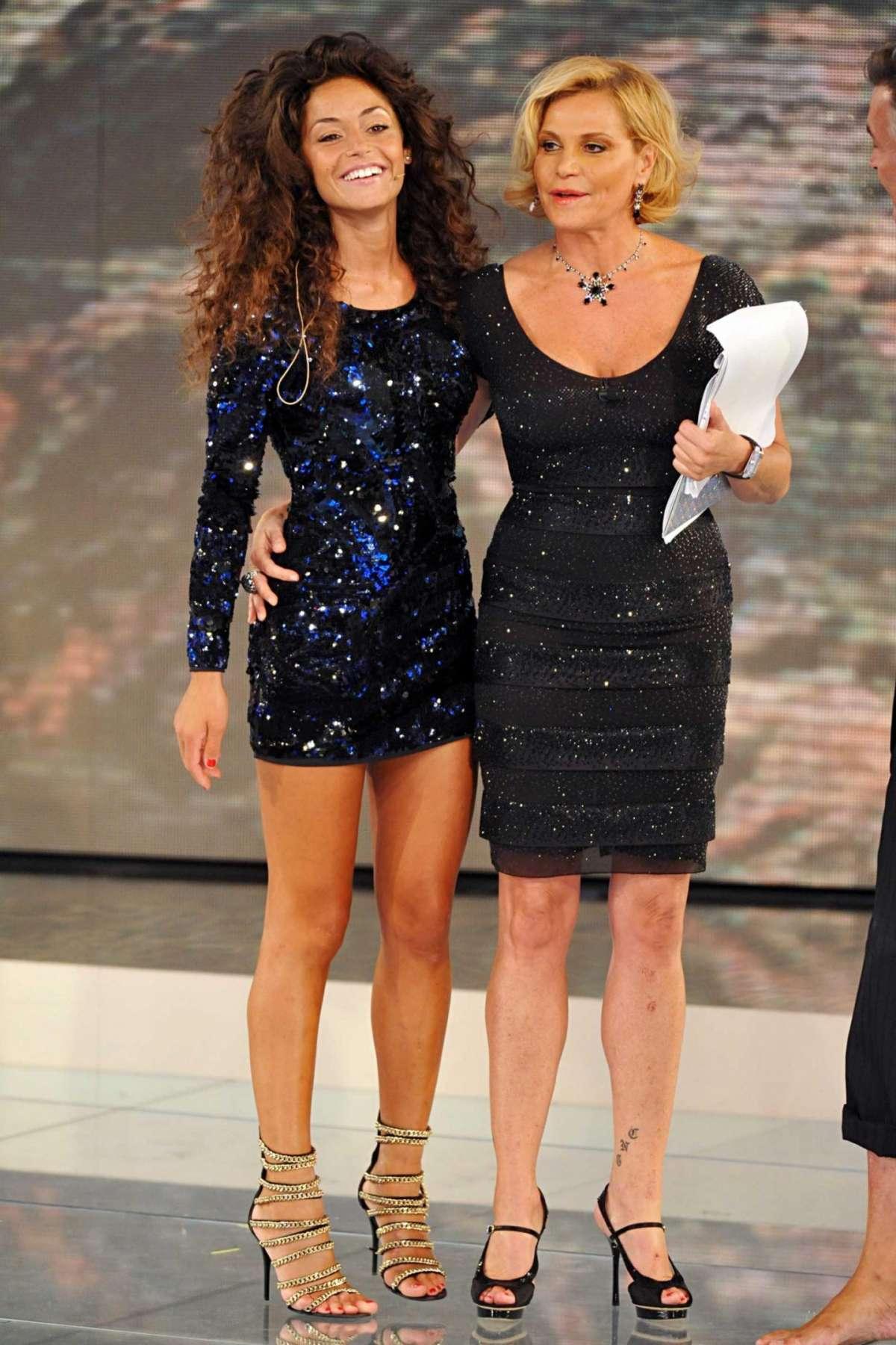 Raffaella Fico con Simona Ventura