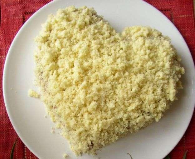 Torta mimosa a cuore