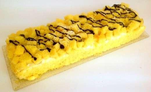 Torta mimosa rettangolare
