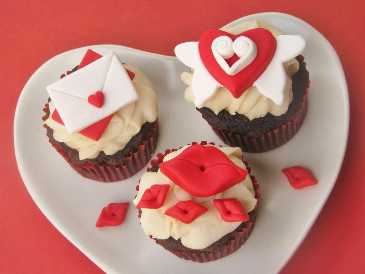 Vari cupcake per San Valentino