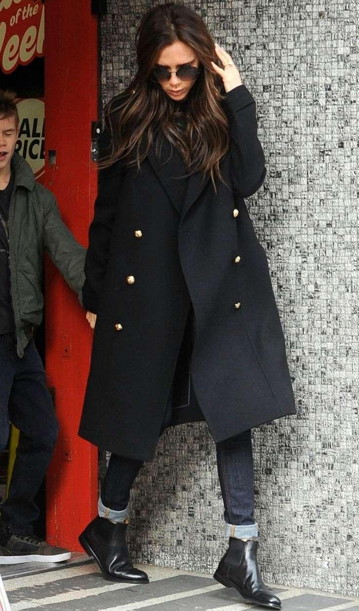 Victoria Beckham con Chelsea Boots