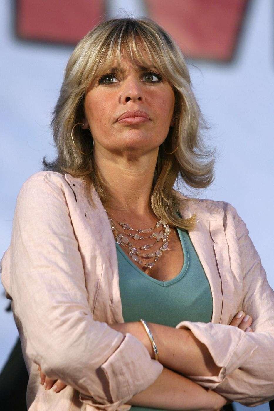Alessandra Mussolini durante le elezioni Comunali