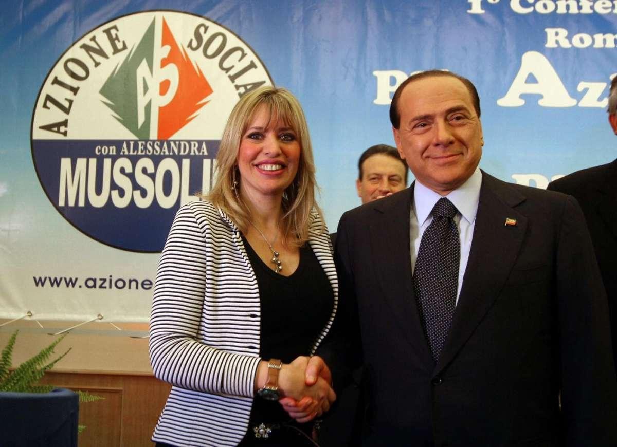 Alessandra Mussolini e Berlusconi