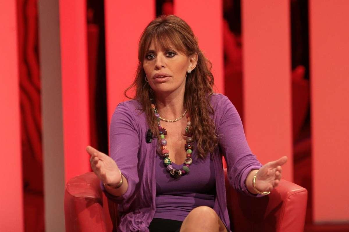 Alessandra Mussolini in un programma televisivo