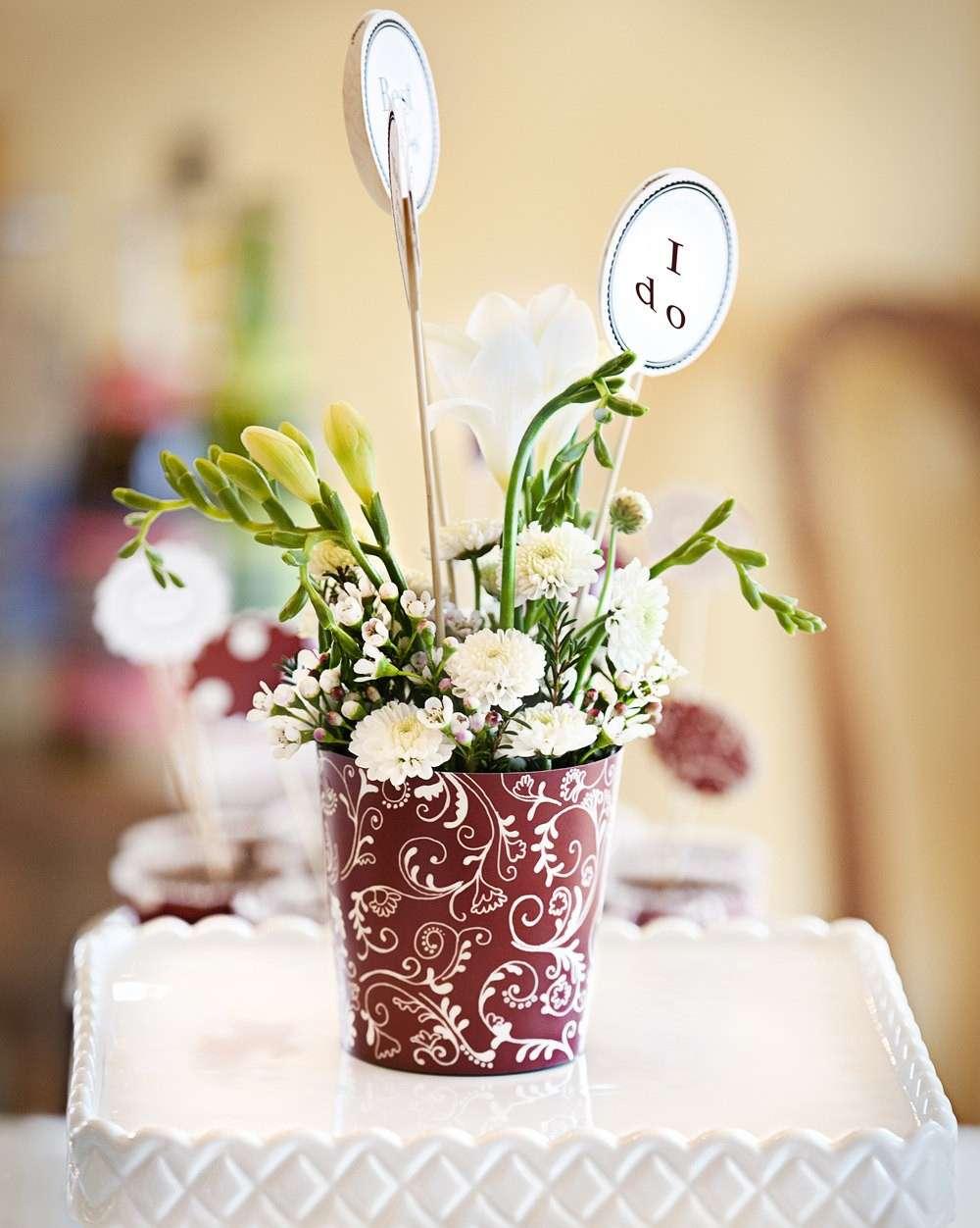 Centrotavola floreale per matrimonio