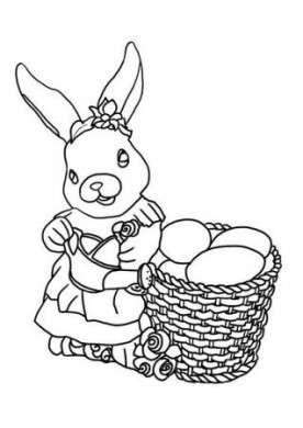 Coniglietto con cesto