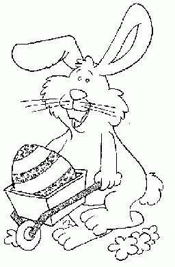 Coniglio con uovo nel carretto
