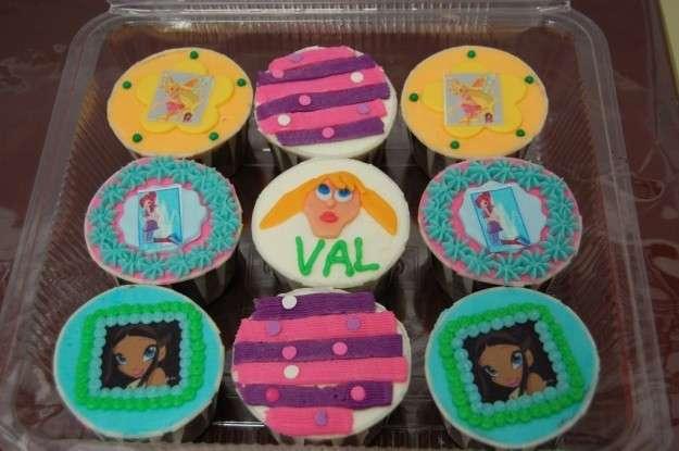 Cupcakes delle Winx colorate