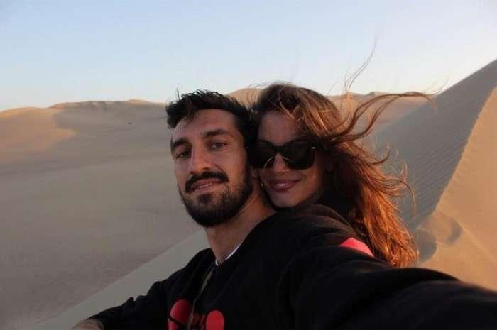 Davide Astori e Francesca Fioretti nel deserto