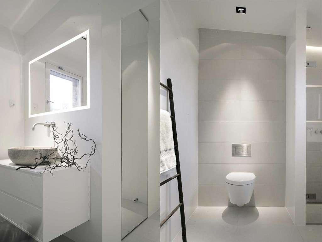 Il total white per il bagno