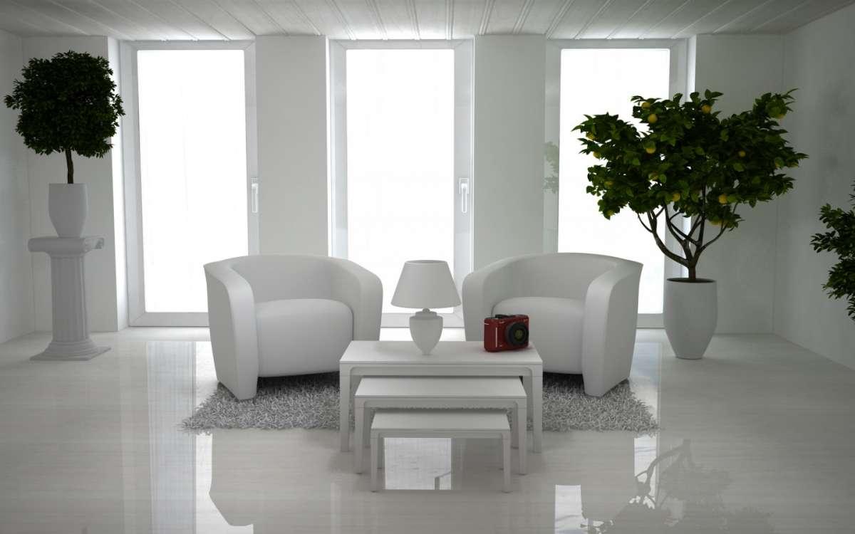L'arredamento total white per la casa