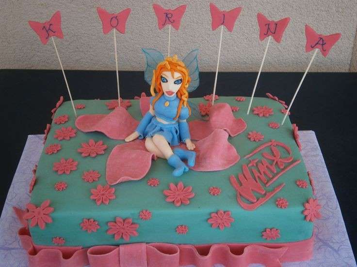 Pasta di zucchero per la torta delle Winx