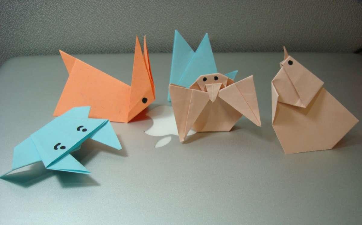 Animaletti con origami per Pasqua